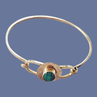 Malachite Spring Bracelet G.F. Artist Signed