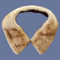 Removeable Mink Collar or Scarf for Sweater or Coat