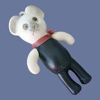 Toy Bear Christmas Ornament Flicker Eyes Blown Mold Hong Kong