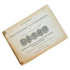 Antique Needlework Book in Dutch Language 1880s