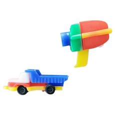 Two Dexterity Toy Puzzles Key Chains Movie Camera and Truck