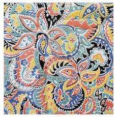 Vintage Cotton Sewing Fabric Retro Bohemian Print