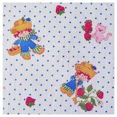 1980 Fabric Strawberry Shortcake's Friend Huckleberry Pie