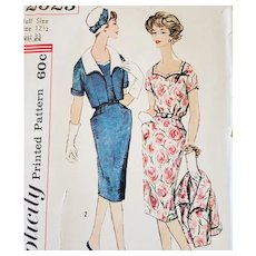 Vintage Sewing Pattern Dress and Jacket Bust 33