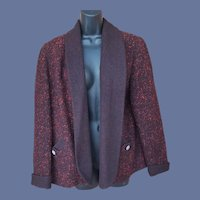 1950s Tweed Jacket Swing Style Size Medium