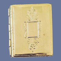 Miniature Book Shaped Locket Button Cover