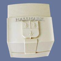 Vintage Plastic Jewelry Box Hallmark Fancy Molding