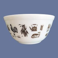 Pyrex Mixing Bowl Early American 1-1/2 Quart Cat Weathervane