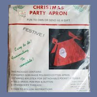 Vintage Christmas Apron Sewing Kit MIP