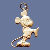 Mickey Mouse Bracelet Sterling Charm Gold Vermeil