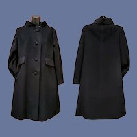 Vintage Women's Cashmere Coat Mid Century Medium
