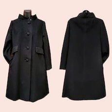 Vintage Women's Cashmere Coat Mid Century Medium