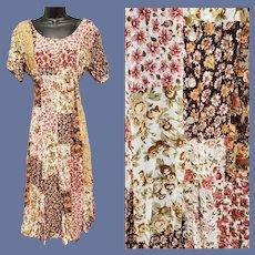 Bohemian Style Dress Broomstick Twist Size Medium