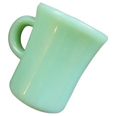 Fire King Jadeite Slim Hot Chocolate Mug C Handle