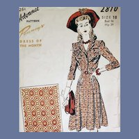 1940s Dress Sewing Pattern Bust 36 Dress of the Month