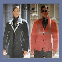 Jacket by Issey Miyake Sewing Pattern Vogue