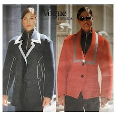 Jacket by Issey Miyake Sewing Pattern Vogue