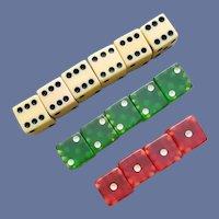 15 Vintage Bakelite Dice Game or Gambling Di