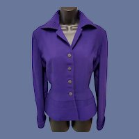1940s Wasp Waist Jacket Exquisite Details Bust 36