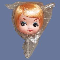 1970s Doll Head Mint in Package Japan Bradley Style