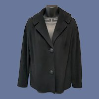 1960s Cashmere Coat Midnight Black Betty Rose