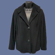 1960s Cashmere Coat Midnight Black Betty Rose