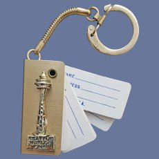 Seattle World's Fair Space Needle Key Ring Address Book