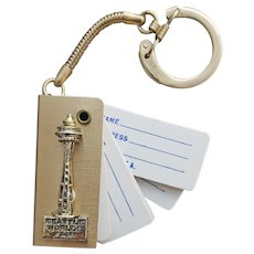 Seattle World's Fair Space Needle Key Ring Address Book