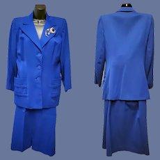 1940s Gabardine Suit Size Large Post WW II Gorgeous
