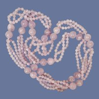 Lavender Jade Bead Necklace  Translucent Luscious and Long