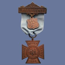 GAR Woman's Relief Corps Medal Brooch 1883 Auxiliary