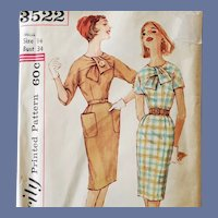 1960s Wiggle Dress Sewing Pattern Bust 34 Snazzy