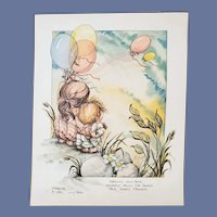 Jody Bergsma Signed Numbered Print Mother Child 1982