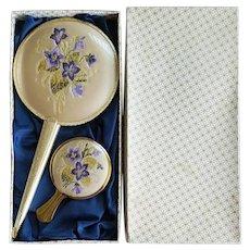 2 Vintage Vanity Hand Mirrors MIB 1960s