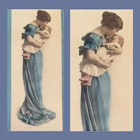 Mother and Baby Hand Tinted Photograph Print All Loving