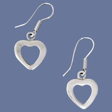 Pierced Earrings Sterling Silver Hearts Valentine's Day