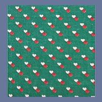 Crisp Cotton Vintage Sewing Fabric Teeny Tiny Hearts