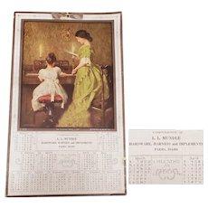 Antique Advertising Calendar 1915 Parma Idaho Hardware Harness Shop