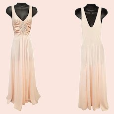 Pale Pink Olga Nightgown Lingerie Lovely Size Medium 1983