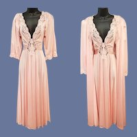 Modest Olga Nightgown With Sleeves and Peignoir Size Small