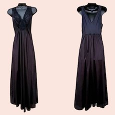 Vintage Nightgown Unworn with Tags Size Medium Ankle Length