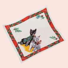 Rayon Handkerchief Scottish and Highland Terrier Dogs