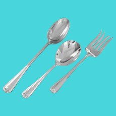 Gorham Silver Plate Serving Spoons Fork Oversized Italy