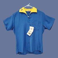 1960s Rayon Bowling Shirt King Louie Men's Medium Unworn