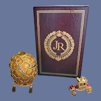 Joan Rivers Imperial Treasures Egg and Miniature Coach MIB