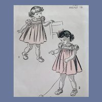 1940s Baby Dress Vintage Sewing Pattern Charming