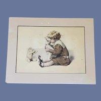 Antique Print 1907 Bessie Pease Gutmann The Intruder