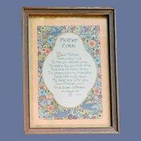 Motto Print Art Deco Mother Love H.H.F The Smiths Borin Chicago