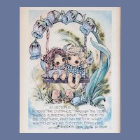 Sisters Love Jody Bergsma Numbered Print 1989