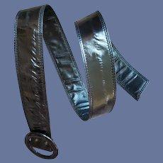 Genuine Eel Skin Belt Midnight Black Small - Large